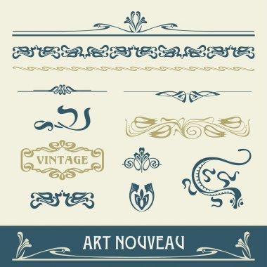 Set vectors art nouveau - lots of useful elements to embellish your layout