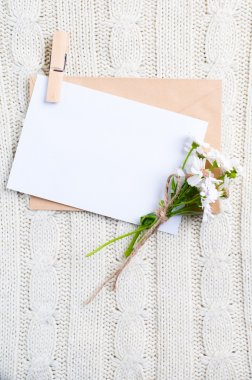 Cardboard card with flowers