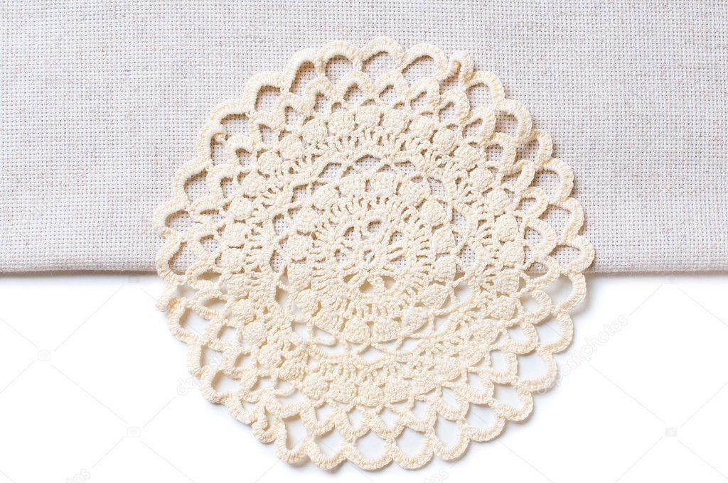 Borde mantel   servilleta en el borde de un mantel — Foto de stock ...