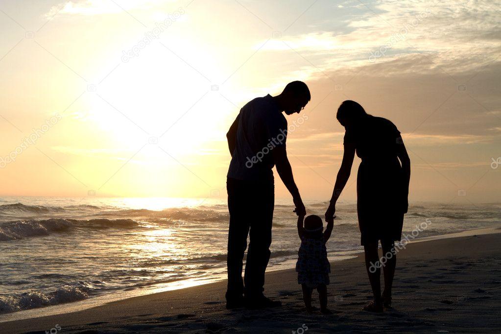 Parents Walking Baby