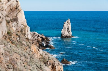 Beautiful rock on the Black Sea shore