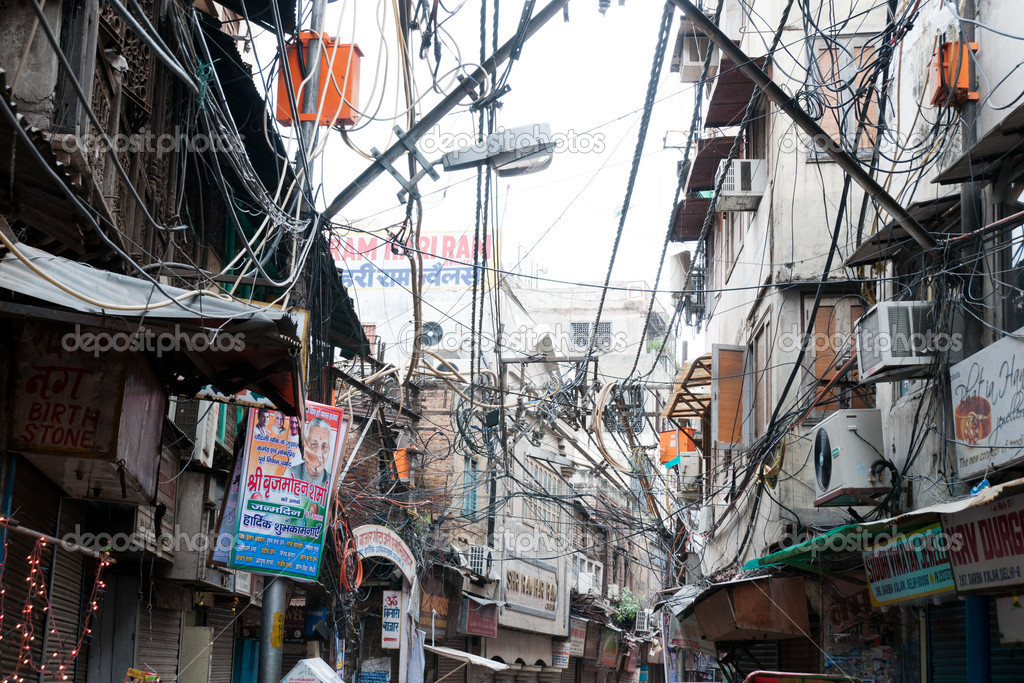 Electrical Wiring In Old Delhi, India – Stock Editorial Photo ...