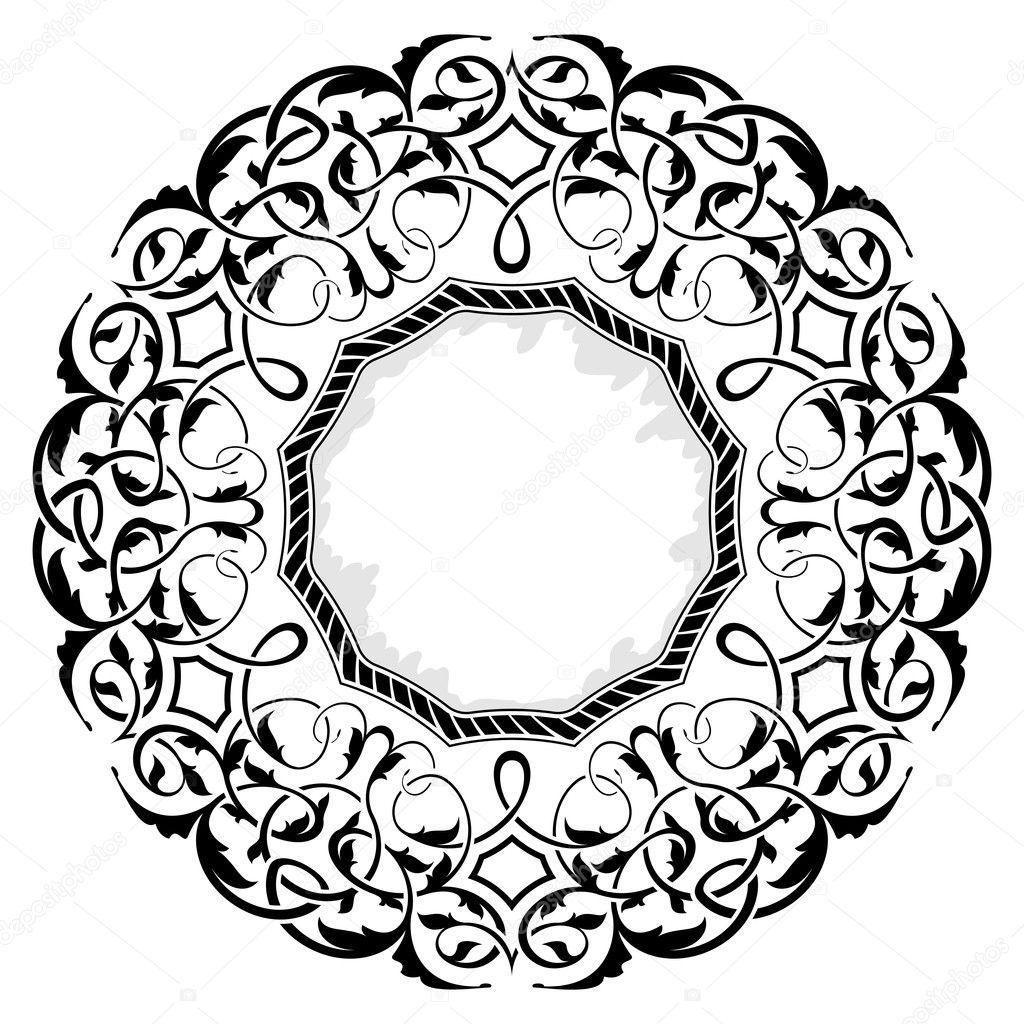 schwarzer Rahmen mit ornamentalen Rahmen — Stockvektor © Zybr78 #8373117
