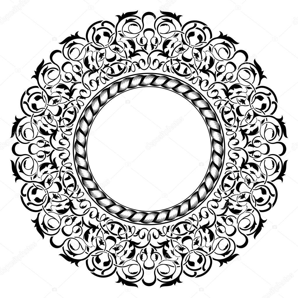 schwarzer Rahmen mit ornamentalen Rahmen — Stockvektor © Zybr78 #8463630