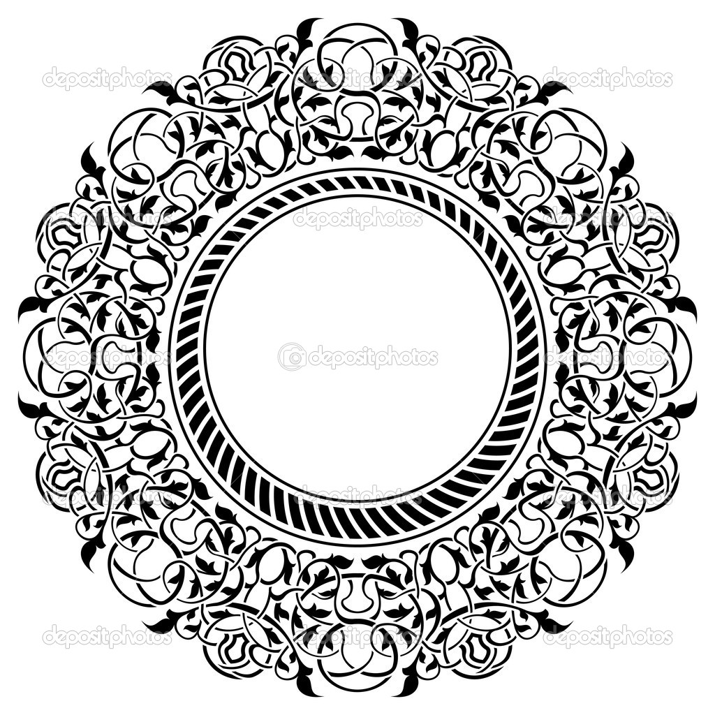 schwarzer Rahmen mit ornamentalen Rahmen — Stockvektor © Zybr78 #8463641