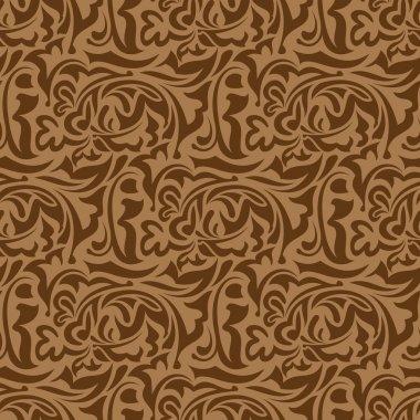 Brown seamless wallpaper pattern clip art vector
