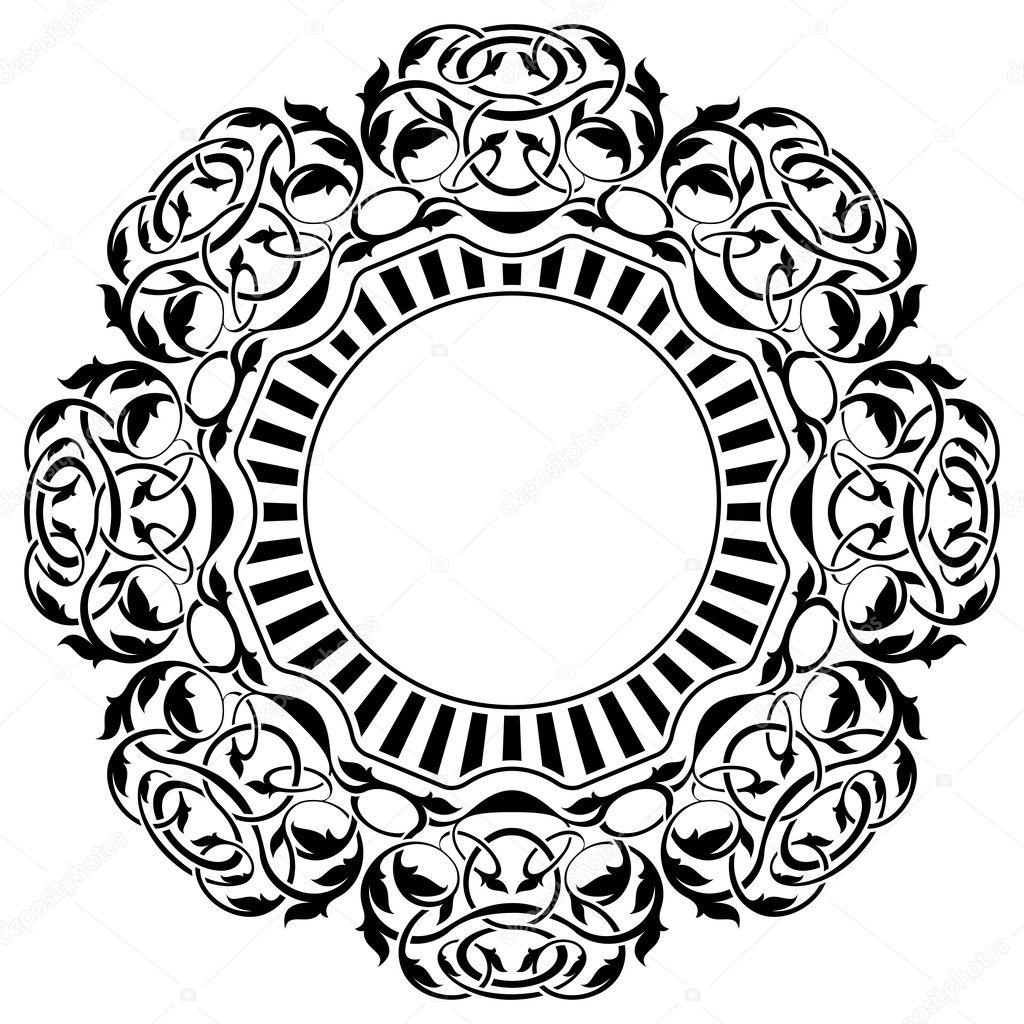 schwarzer Rahmen mit ornamentalen Rahmen — Stockvektor © Zybr78 #8675028