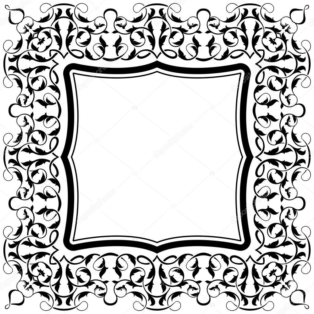 schwarzer Rahmen mit ornamentalen Rahmen — Stockvektor © Zybr78 #8675031