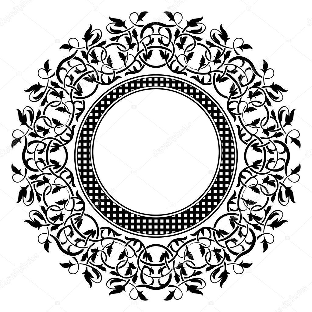 schwarzer Rahmen mit ornamentalen Rahmen — Stockvektor © Zybr78 #8675048