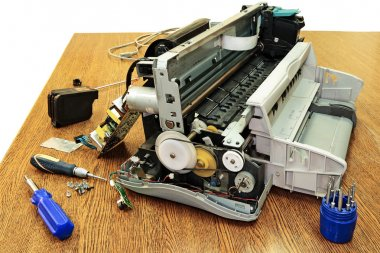 Disassembled the printer.