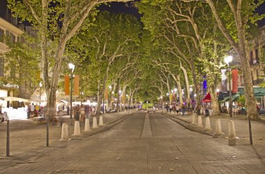 Main street of Aix-en-Provence, south of France