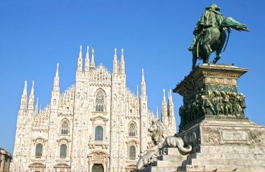 The famous Duomo in Milan, Italy