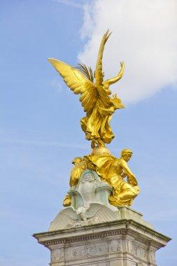 Golden angel in the Queen Victoria Memorial