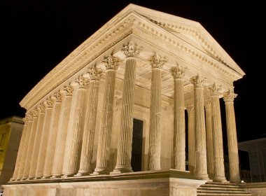The Maison Carree, Roman temple in Nimes