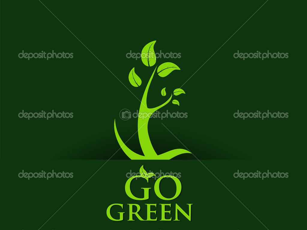 abstract go green concept background, vector illustration