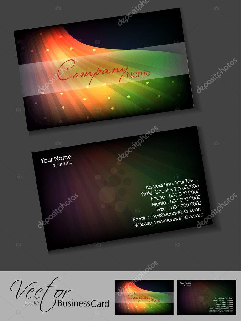 Modele De Carte Visite Ou Jeu EPS 10 Vecteur Illu Illustration Stock