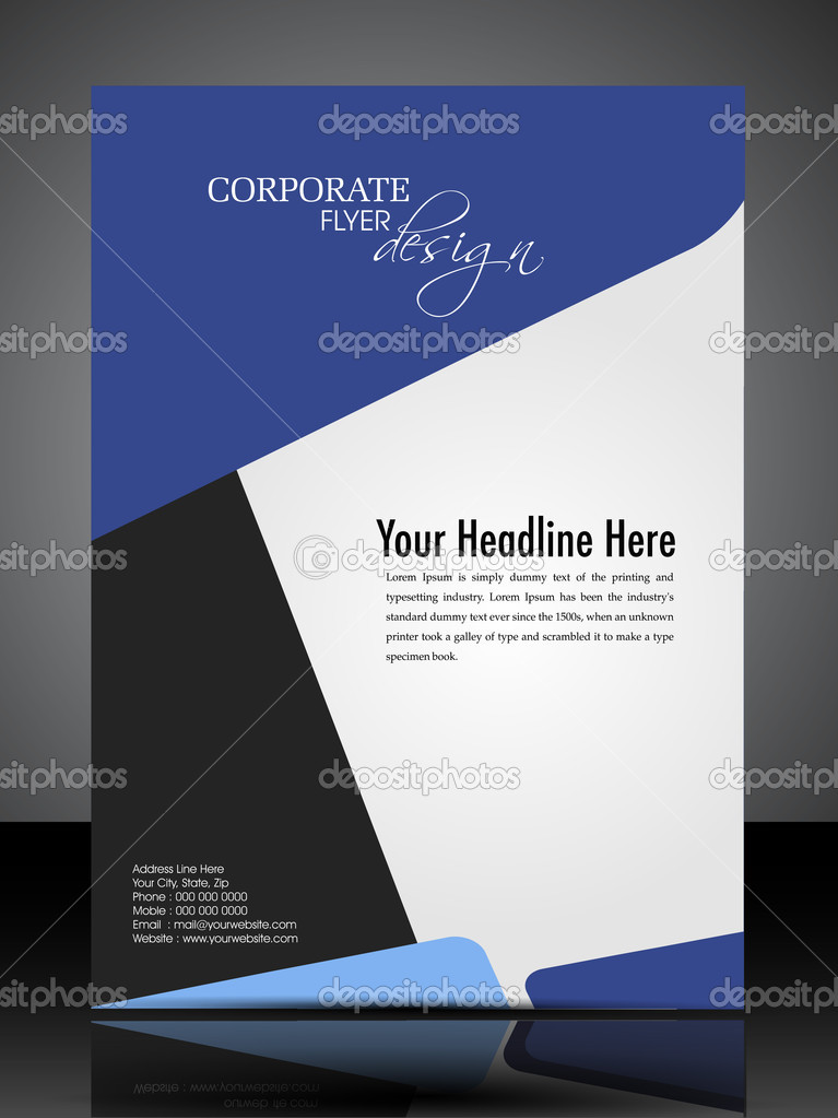 Eps 10 Professional Corporate Flyer Design Presentation. Editabl