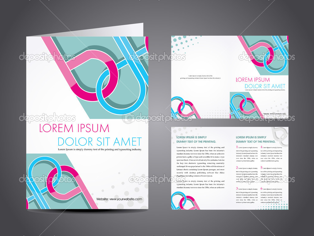 professional business catalog template or corporate brochure des