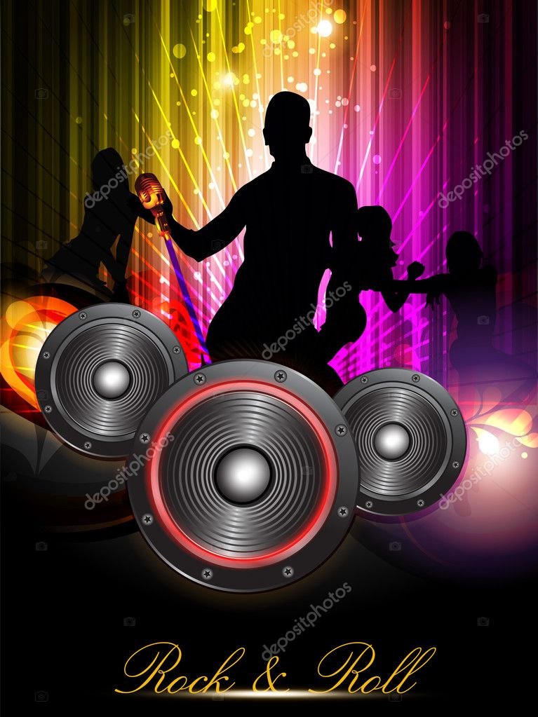 Vector Abstract Music background for discoteque night event.