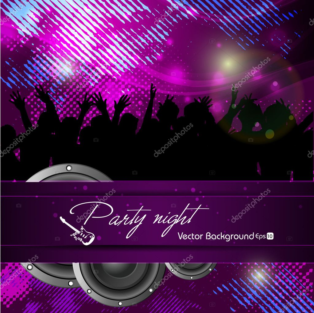 abstract background of dance party event having fun. vie