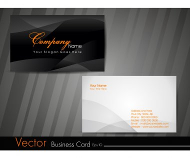Business card template or visiting card set. EPS 10. Vector illu