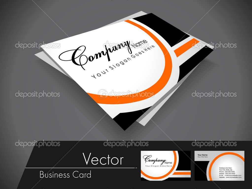 Black and orange vector business card,For more bsiness card of t