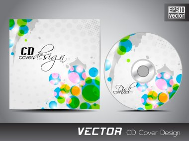 CD cover presentation design template with copy space and circal
