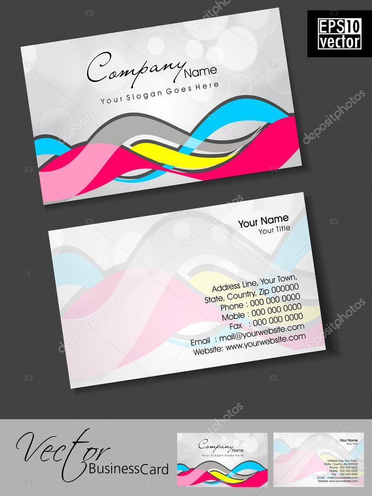Cartes De Visite Professionnelles Modele Ou Un Ensemble Carte Colo Illustration Stock