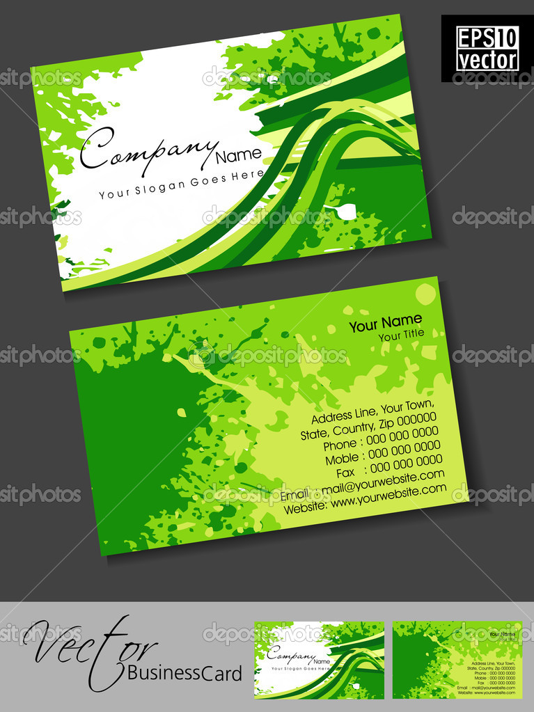 Professional business cards template or visiting card set gree abstract professional and designer business card template or visiting card set eps 10 vector illustration vector by alliesinteract cheaphphosting
