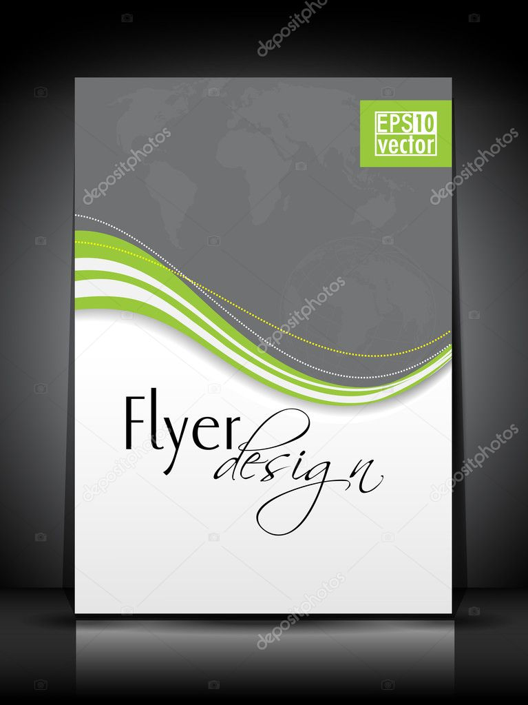 Professional business flyer, corporate brochure or cover design template