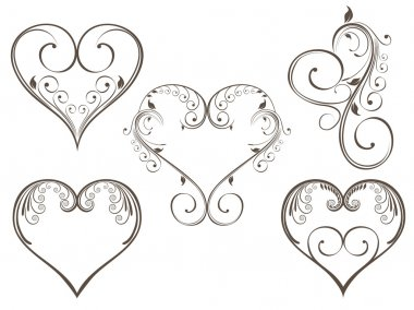 Vector illustration of vintage design heart shape for Valentine