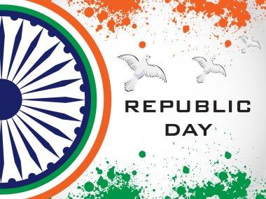 Vector illustration of decorative Indian National Flag.