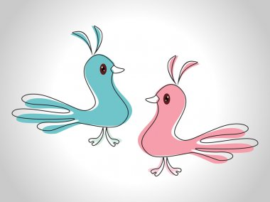 Couple of love birds as an element for valentine's day and other