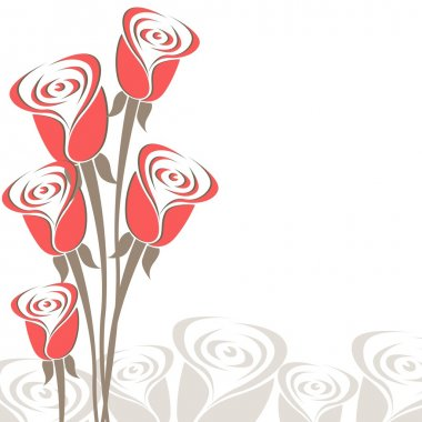 Bouquet of roses for love & valentine