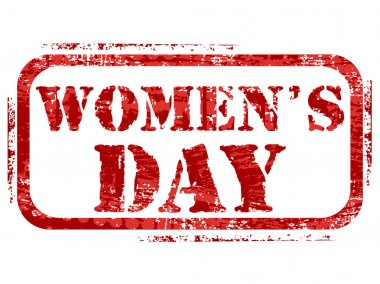 A rubber stamp for the woman's day. vector.