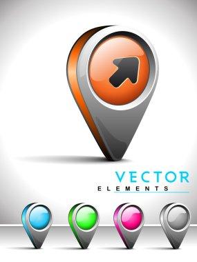 Internet web 2.0 icon with sign edge symbol.