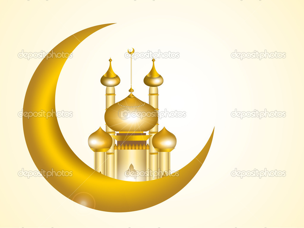 3d Vector Of Mosque For Muslim Celebration Stock Vector