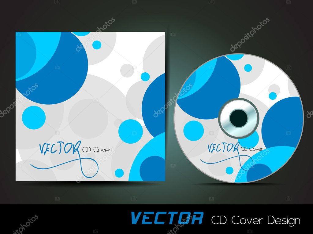 Conception De Couverture Cd Vecteur Avec Des Cercles Bleus Sur Fond Blanc Eps 10 Facile A Ediit Illustrarion Par Alliesinteract