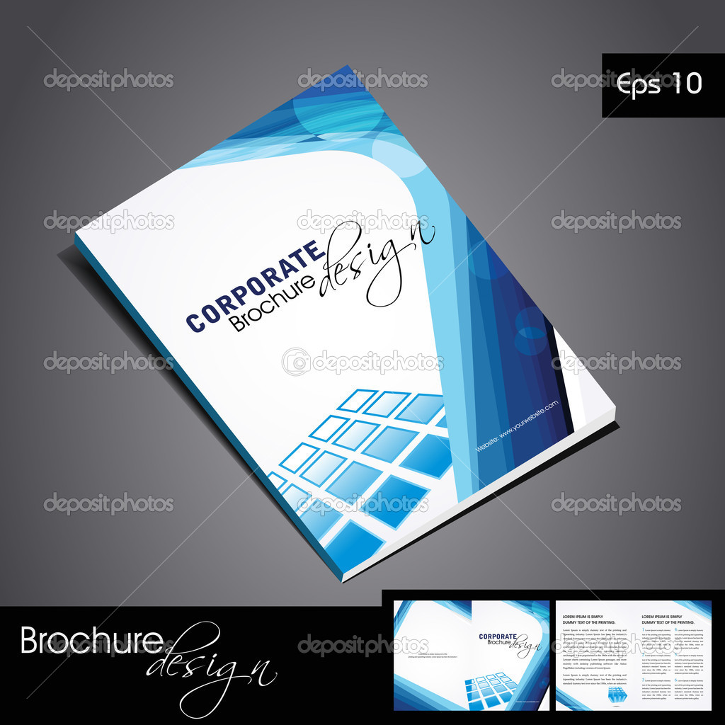 Vector corporate brochure design.