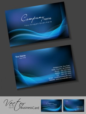 Vector corporate business card set.