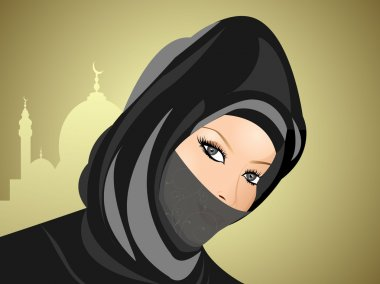 Portrait of muslim beautiful girl in hijab,visit our portfolio f