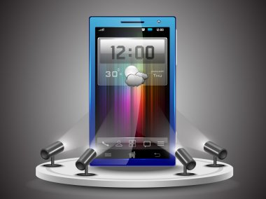 Shining Smartphone presentation on Stand Banner or Template Des