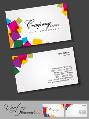 Abstract business card set , for more business card of this type