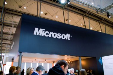 HANNOVER, GERMANY - MARCH 5: stand of the Microsoft on March 5, 2011 in CEB