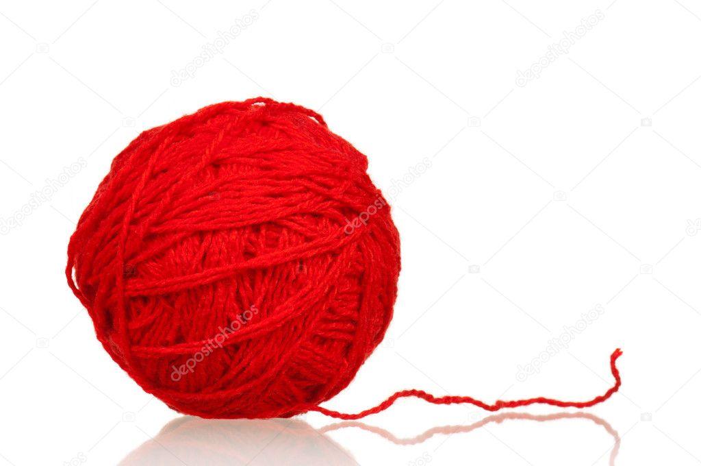 Red ball of yarn