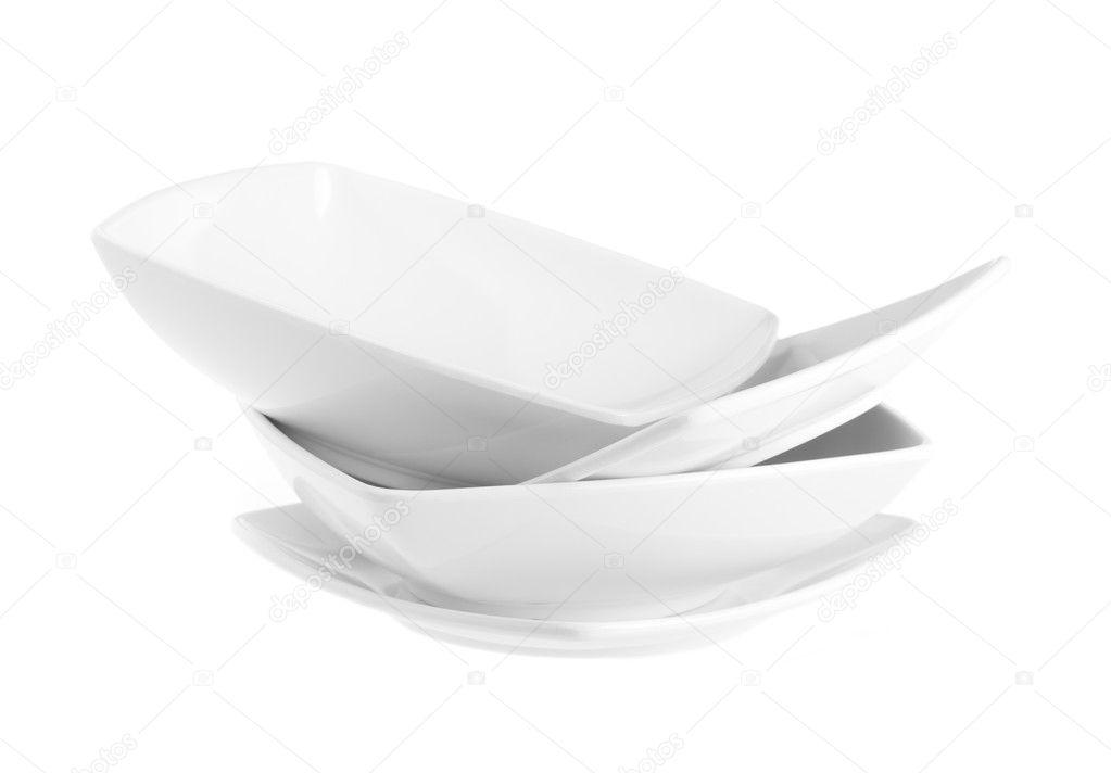Stack of plain white dinner plates \u2014 Stock Photo  sc 1 st  Depositphotos & Stack of plain white dinner plates \u2014 Stock Photo © tehcheesiong ...