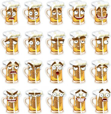 Cute series of smiles beer