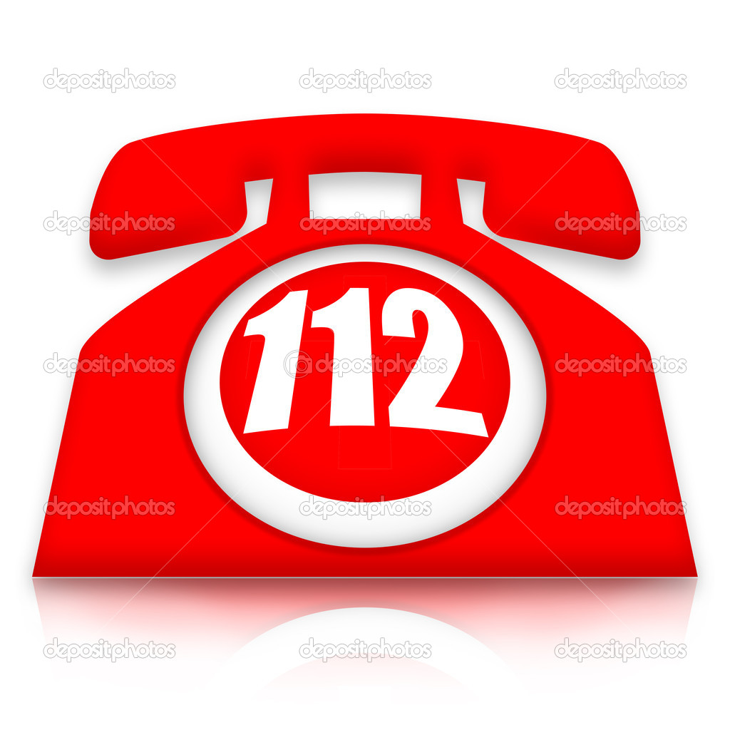 112 emergency phone — Stock Photo