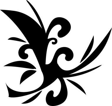 Design floral tattoo symbol