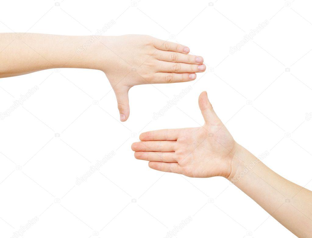 framing met twee handen — Fotos de Stock © Jaros75 #10534820